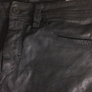 """Diesel jeans have a """"leather look"""" 30L"""